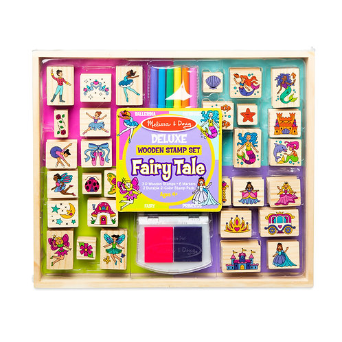 Deluxe Fairy Tale Wooden Stamp set
