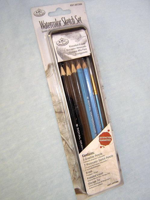 Water Colour Sketch Art Set 8pc