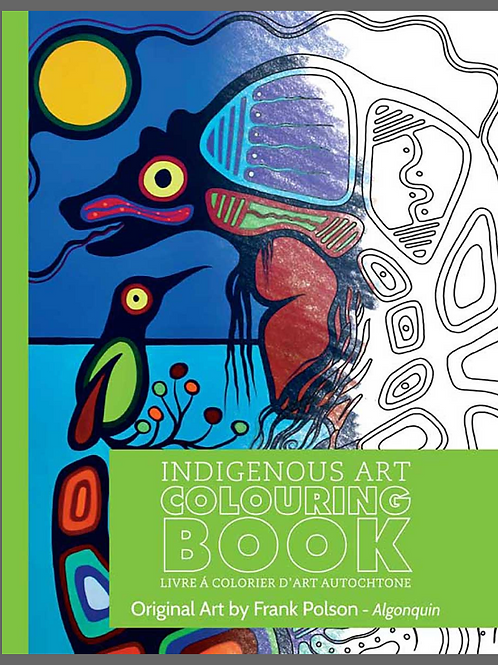 Indigenous Collection Colouring book- Sante Oglala Sioux