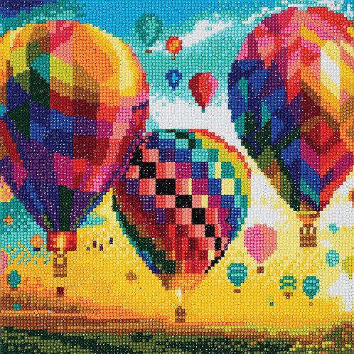 "Crystal Art 12""x12"" Hot Air Balloons"