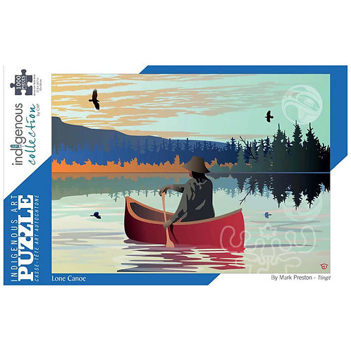 1000pc Indigenous Collection- Lone Canoe