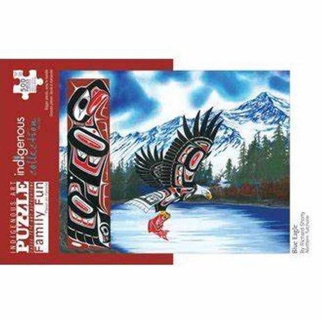 500pc Indigenous Collection Puzzle- Blue Eagle