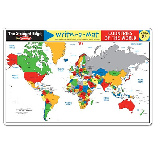 Learning Mat - World Map