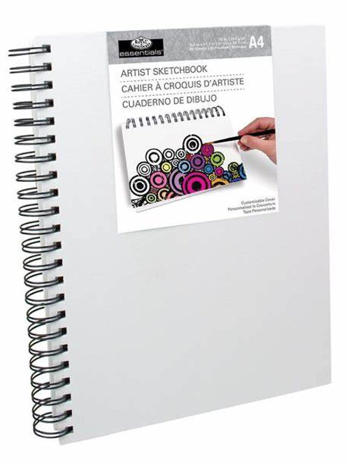 A5 Artist Sketchbook-White