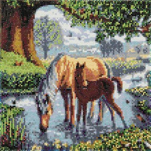 "Crystal Art 12""x12"" Fell Ponies"
