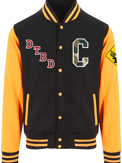 Deer To Be Different Letterman Jacket (Black Edition)
