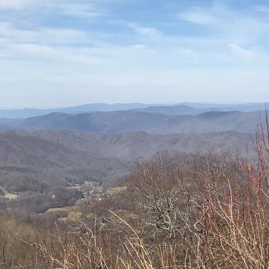 Scenic overlook of Roan Mountain