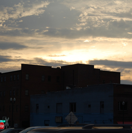 Sunset over downtown Johnson City, Tennessee