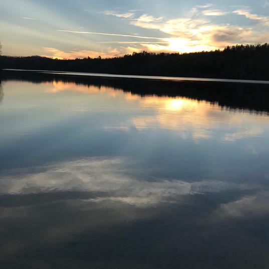 Sunset over Indian Boundary Lake