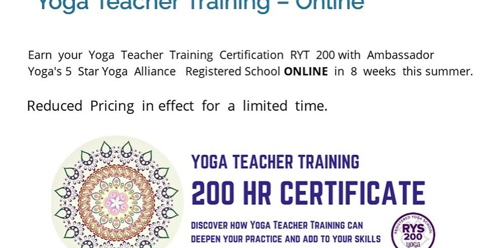 Yoga Teacher Training - Online