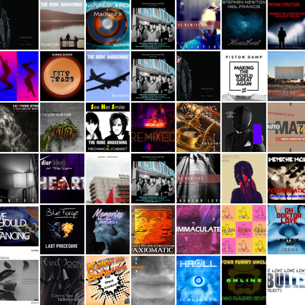 Some of the cover artwork by artists featured in the Artefaktor Top 50 2021 (so far)