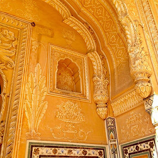 Tiger Fort, Jaipur, plaster detail - Beauty of India Tours
