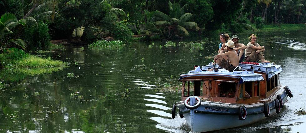 Kerala back waters cruising