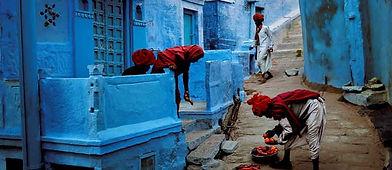 "Jodhpur street scene in the ""Blue City"""