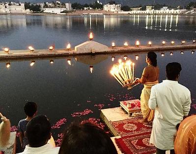 Ganga Aarti ceremony, Pushkar