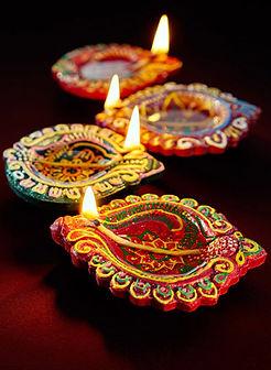 Celebrating Diwali Festival, India