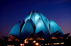 Lotus Temple at night - Beauty of India Tours