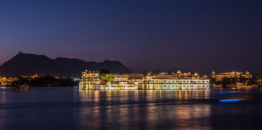 Jal Mahal illuminated at night