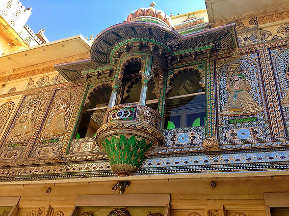 Peacock Courtyard, City Palace, Udaipur - Beauty of India Tours