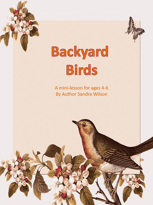 Backyard Birds: a mini-lesson for ages 4-6