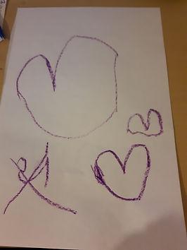 paper heart from a kindergarten student.