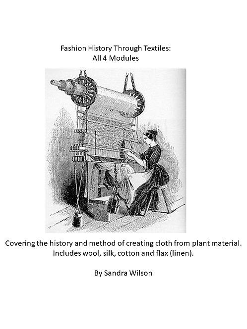 Fashion History Through Textiles - All 4 Modules