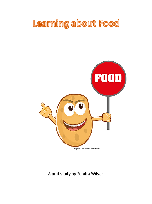 Learning about Food: a mini unit for ages 4-6