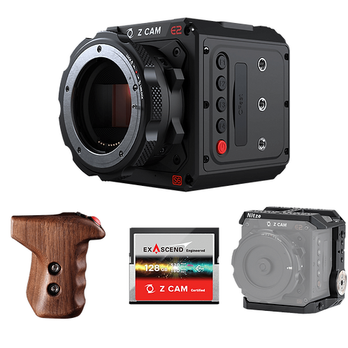 Z CAM E2-S6 Super 35mm 6K Camera Kit with Cage, 128GB CFast and RVLVR Clutch