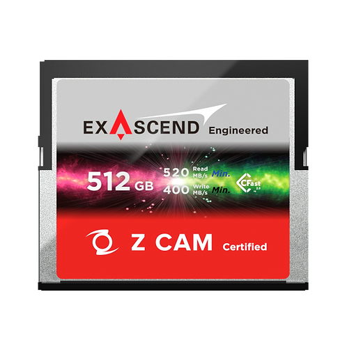 EXASCEND 512GB CFAST 2.0 Z CAM Certified Card