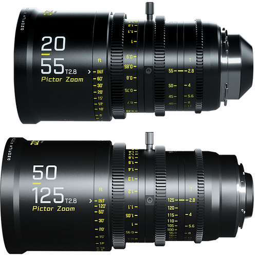 DZO Film Pictor S35mm Lens Kit 20-55mm, 50-125mm T2.8 PL/EF Rental