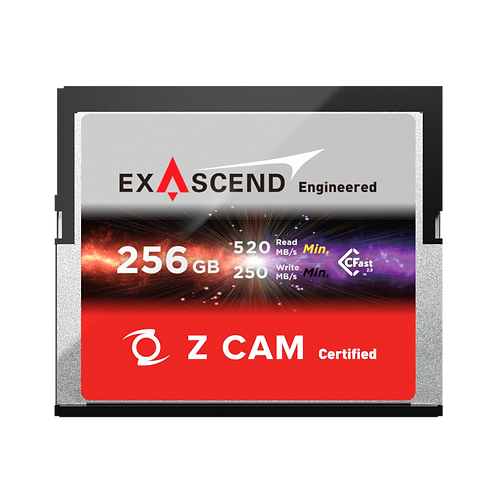 EXASCEND 256GB CFAST 2.0 Z CAM Certified Card