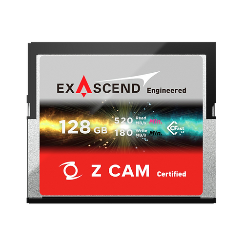 EXASCEND 128GB CFAST 2.0 Z CAM Certified Card