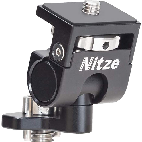 """Nitze Low Profile Monitor Holder Mount 3/8"""" Locating Pins to 1/4"""" screw N54-F4"""