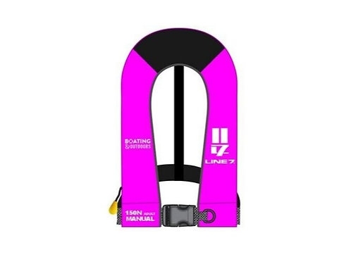 Line 7 Pink Inflatable Lifejacket 150N Adult