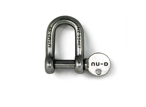 Nu-D 10mm Stainless Steel DEE Shackle with Captive Pin