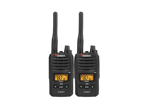 Uniden UHF UH820S-2Handheld Radio 2w Twin Pack