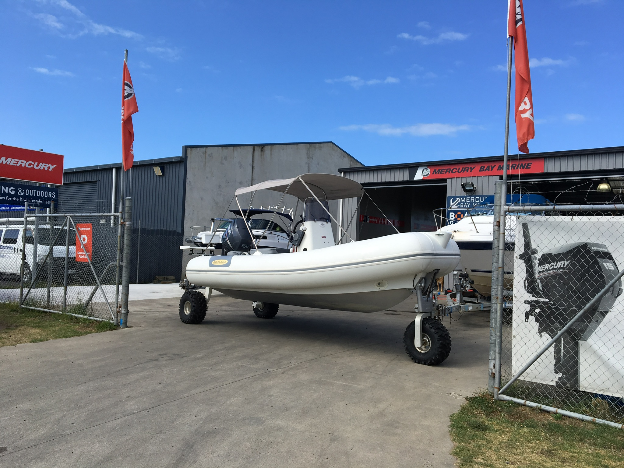 SOLD- SEALEGS 6.1M RIB with Trailer