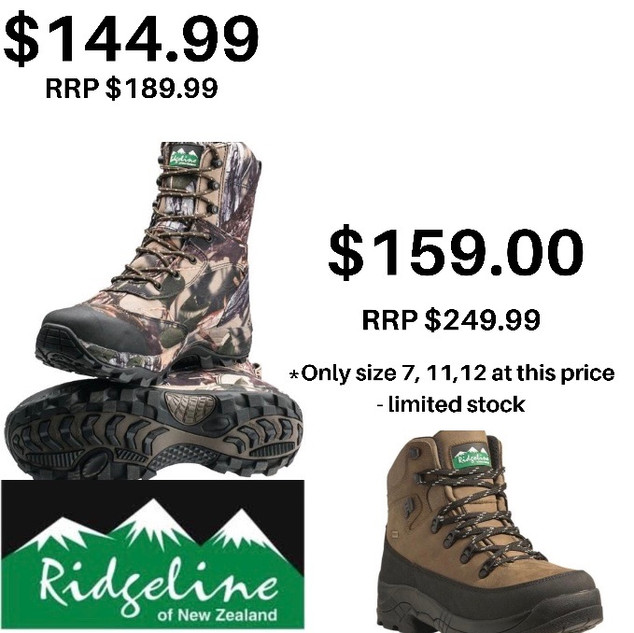 Boots Whitianga tramping hunting hiking