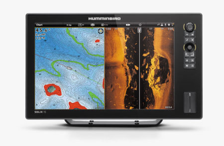 Humminbird SOLIX 15 CHIRP MEGA SI GPS  With Chart