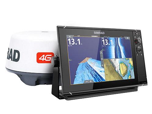 Simrad NSS12 Evo3 Fishfinder/Chartplotter with 4G Radar