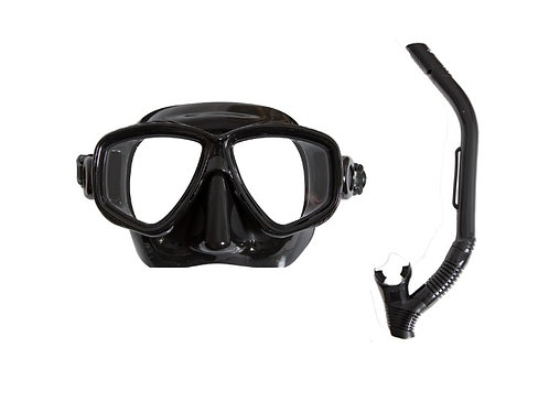 Pro Dive Adult Twin Lens Silicone Mask & Snorkel Set