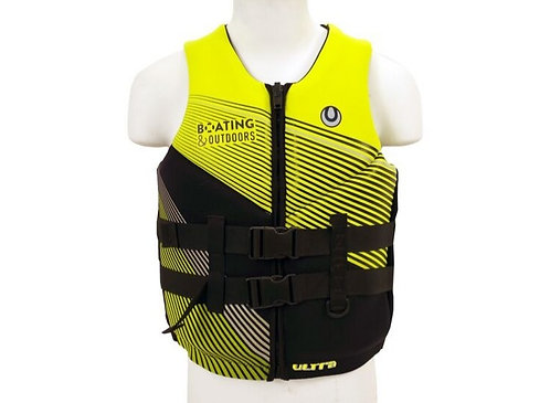 Boating and Outdoors Neoprene Vest Hi-Vis Yellow