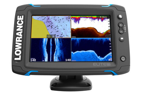 Lowrance Elite-7 Ti Mid/High/DownScan with Transducer & Chart