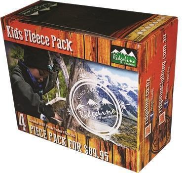 Ridgeline KIDS 4 PIECE FLEECE PACK
