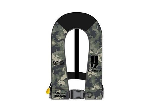 Line 7 Camo Inflatable Lifejacket 150N Adult
