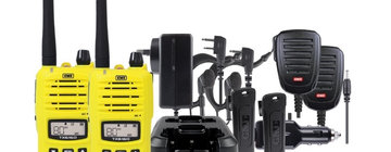 GME TX6160YTP Yellow 5 Watt IP67 UHF CB Handheld Radio - Twin Pack