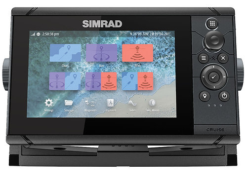 Simrad Cruise 7 with 83/200 Transducer and C-MAP Chart