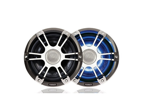 """Fusion 6.5""""- 7.7"""" Coaxial Sports Chrome Marine Speaker with LED\'s"""