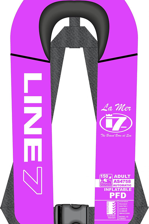 Line 7 Inflatable Lifejacket - PINK AUTO - BOATSHOW ONLY
