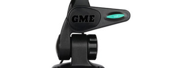 GME Double Swivel Rectangular Antenna Base - Black